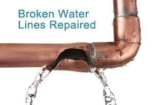 Our Mesquite plumbing contractors repair broken water lines
